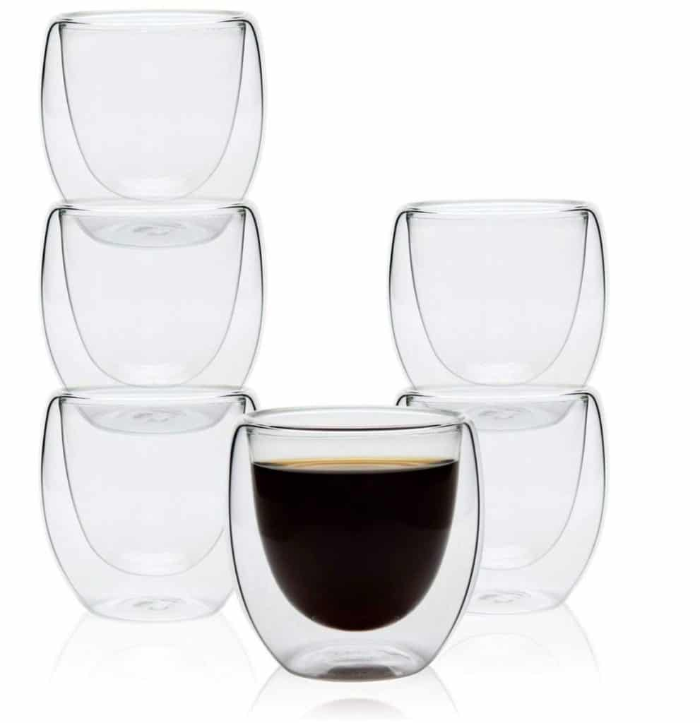 Best Espresso Cups - ComSaf Espresso Insulated Glass Cups