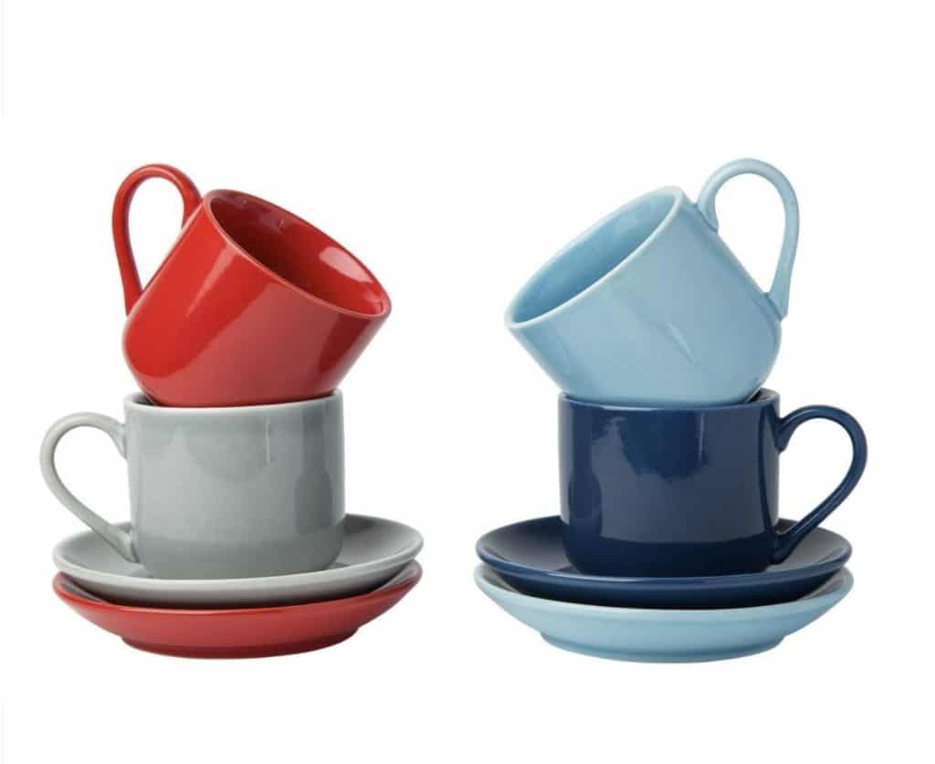 Best Espresso Cups - Comfify Espresso Cups with Matching Saucers