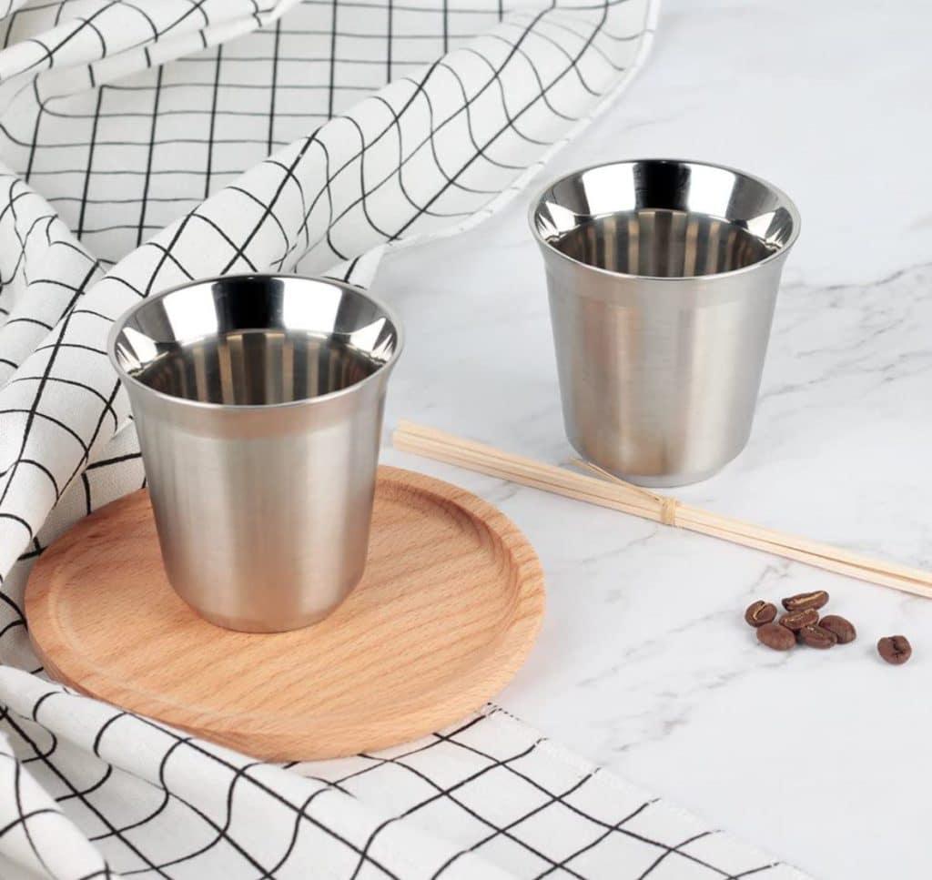 Best Espresso Cups - RECAPS Stainless Steel Espresso Cups Set