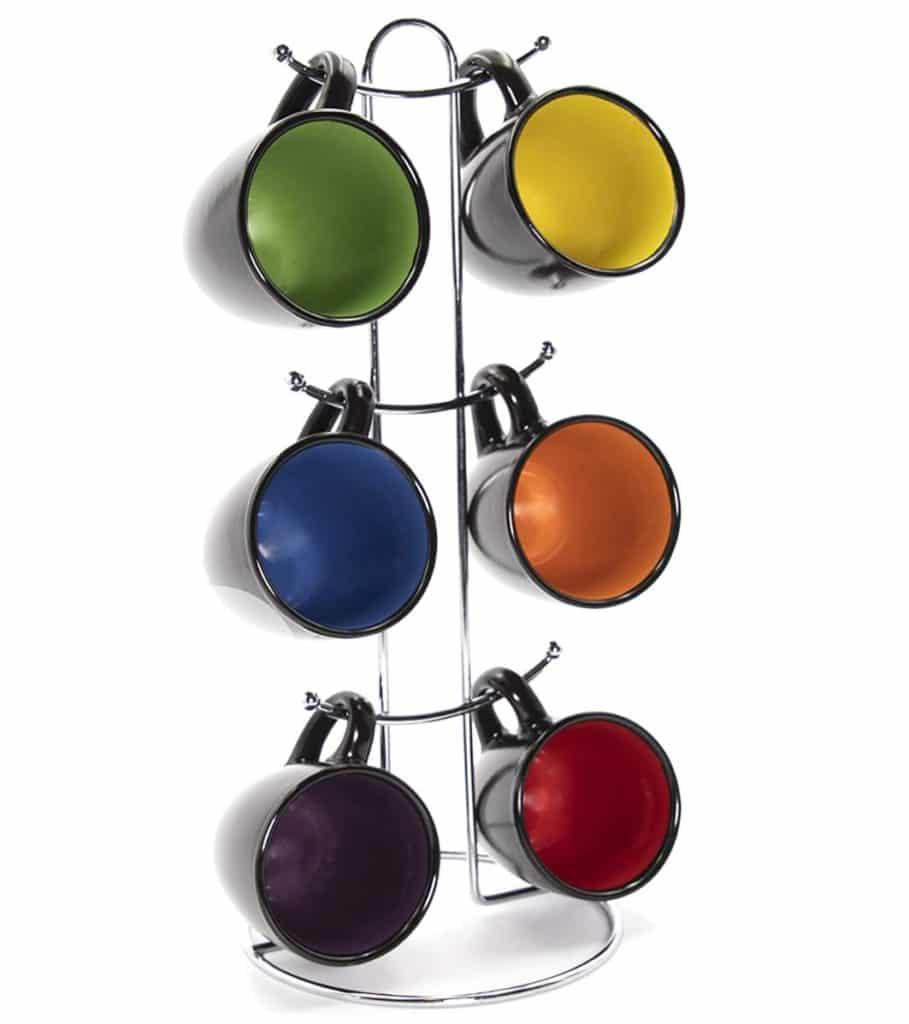best espresso cups - Rainbow color Espresso Hanging Coffee Mug Set