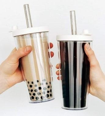 Jasmine Milk Tea - Reusable Boba Cup