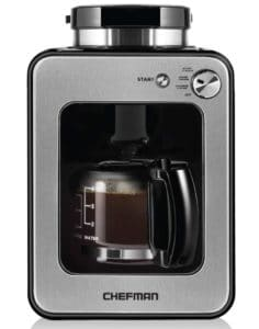 Coffee Maker with Grinder - Chefman Grind and Brew