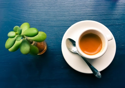 What is Espresso - Espresso on blue table